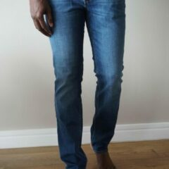 Blauwe Lee Cooper LC112 Core Mid Blue - Straight Jeans - W33 X L34
