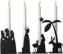 Zwarte ADVENT KANDELAAR KRIB ( SET 4 ) - PLUTO PRODUKTER