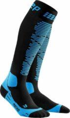 CEP Ski Merino compressiesokken (zwart/blauw)-Vrouw-Maat II: 25 - 31 cm