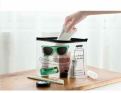 EPIN   Toilettas   Transparant   Doorzichtig   Voor Toilet Artikelen   Handbagage   Handig voor reizen met vliegtuig   Make-Up Tas   Reis Bagage