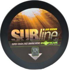 Korda subline groen nylon 15 lb--0.40mm--6.8 kg 1000 meter