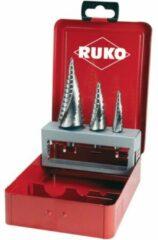 RUKO 101026 Getrapteboorset 3-delig 4 - 12 mm, 4 - 20 mm, 4 - 30 mm HSS 3 vlakken schacht 1 set(s)
