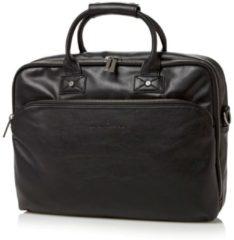 Zwarte Castelijn & Beerens Firenze businesstas van leer met 15,6 inch laptopvak