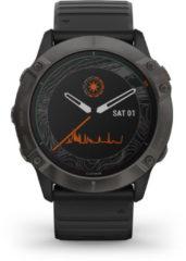 Garmin Garmin fenix 6X Pro Solar Smartwatch - Sporthorloge - Grijs - 010-02157-21 Middengrijs/Zwart