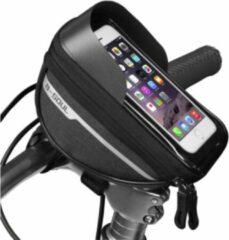 Kirano Fietstas stuur - Stuurtas - Fiets telefoonhouder - Smartphone houder Fiets - Waterdichte Fietstas - Universeel - Zwart