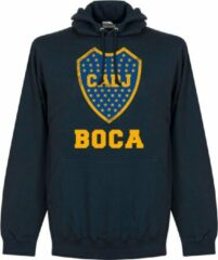 Marineblauwe Retake Boca Juniors Logo Hooded Sweater - Navy - XL
