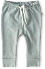 Blauwe Little Label - baby - broekje - lichtgroen - maat 56 - bio-katoen