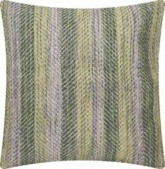 Groene Linen & More Multi weave tijm Kussen 60 x 60 cm