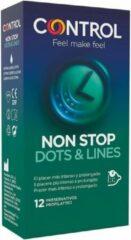 Transparante 1Control Control nonstop dots and lines 12 units / sex / erotiek toys