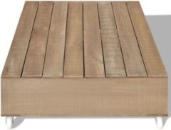 Bruine VidaXL Salontafel bruin massief hout