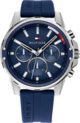 Tommy Hilfiger - 1791791 - Horloge - Mannen - Blauw- Rubber - Ø 45 mm