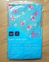 Blauwe Demo Creations elastische boekenkaft Bloemetjes