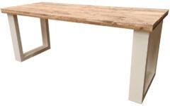 Bruine Wood4you New England bureau steigerhout 190Lx72Dx75H