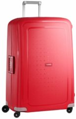 Rode Samsonite S'Cure Spinner 81 crimson red Harde Koffer