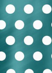 MTis Turquoise Inpakpapier met Witte Stippen- Breedte 50 cm - 100m lang - K80892/16-50cm-100mtr