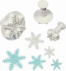 Witte PME Legend Plunger Uitsteker set/3 Sneeuwvlokjes