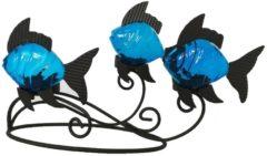Teelichthalter Fisch HTI-Line Anthrazit