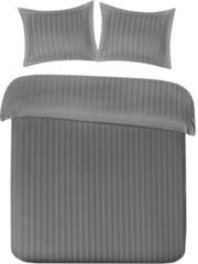 Papillon Uni Satin dekbedovertrek - 100% katoen-satijn - Lits-jumeaux (240x200/220 cm + 2 slopen) - Grijs