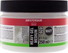 Transparante Royal Talens Amsterdam schildermedium flacon 250 ml - heavy gel - mat