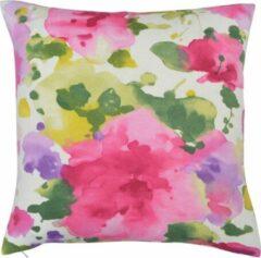 The Cushion Shop Aquarelle Flowers - Sierkussen - 44x44 cm - Roze