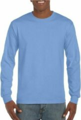 Gildan Heren t-shirt lange mouw lichtblauw XL