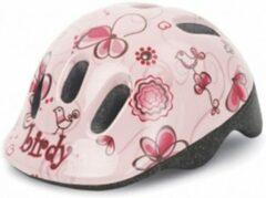 Creme witte Polisport fietshelm Birdy XXS junior crème/roze maat 44/48 cm