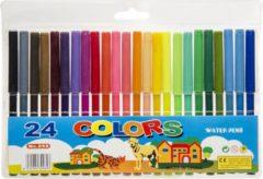 Merkloos / Sans marque 24x Gekleurde viltstiften in mapje - Viltstiften voor kinderen - Kleuren - Creatief speelgoed