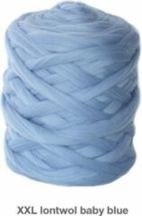 Lichtblauwe Chunkywol.nl XXL wol, Merino Lontwol 1 kg babyblue