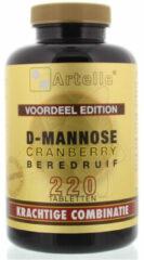 Artelle D-mannose Cranberry Beredruif Tabletten