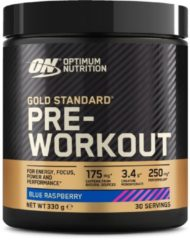 Optimum Nutrition Gold Standard Pre-Workout - Blue Raspberry - 330 gram (30 doseringen)