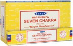 Selenietshop.nl Nag Champa Satya Seven Chakra 12x 15g