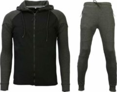 Style Italy Trainingspakken Windrunner Basic - Grijs / Zwart - Maat: S
