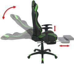 VidaXL Bureau-/gamestoel verstelbaar met voetensteun groen