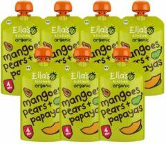 7x Ella's kitchen Knijpzakje 4+ m Mango Peer Papaya 120 gr