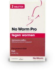 No Worm Pro Kat - Anti wormenmiddel - 2 tab Vanaf 2 Kg