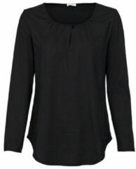 Enna Shirt met lange mouw en druppelhals, schwarz 44/46