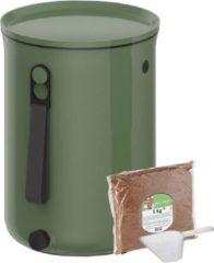 Groene Skaza Exceeding Expectations Skaza Bokashi Organko 2 | Gerenommeerde keukencompostbak van gerecycled plastic | 9.6 L | Starter Set voor keukenafval en compostering | met EM zemelen 1 kg | Kleur