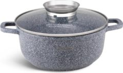 Grijze EDENBERG Edënbërg Stonetec Line - Luxe Aluminium Kookpan met Deksel - Ø 26 cm