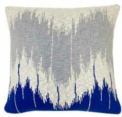 Malagoon Wave Sierkussen 50 x 50 cm - Blauw