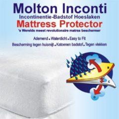 Witte Homéé® Protection Homéé® Incontinentie Waterdicht moIton TPU tot ( 30 cm) 140x200 cm tweepersoons - 100% Katoen badstof
