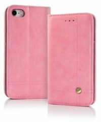Roze Cover voor iPhone X / Xs Smart Prestige Wallet Case Hoesje