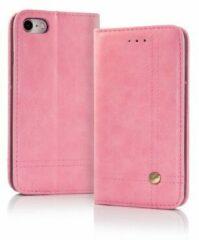 Merkloos / Sans marque Roze Cover voor iPhone X / Xs Smart Prestige Wallet Case Hoesje