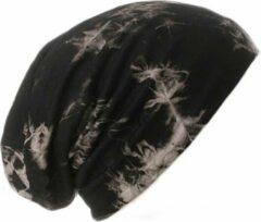 AOP Chemomuts bij haarverlies beanie zwart batik print maat 56 57 58 cm