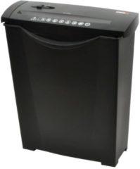 Zwarte DESQ® 20008 Papierversnipperaar met grote opvangbak (13L) | 6 vel | 7 mm stroken| P1 | Auto-start