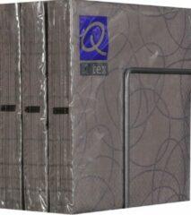 Merkloos / Sans marque Servetten - Papier - Set van zes pakjes - 6 x 20 stuks- Cirkels Taupe - 33cm x 33cm
