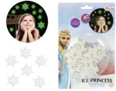 Witte Toitoys Frozen Glow in the dark snowflakes / Muurstickers