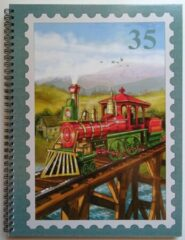 Euroalbum Ltd Postzegel Insteekboek Stoomtrein