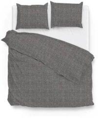 Donkergrijze Zo! Home Lino - Dekbedovertrek - Lits-jumeaux - 260x200/220 cm + 2 kussenslopen 60x70 cm - Dark Grey