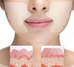 Transparante Bobbels & Putten 2 stuks Anti rimpel pad neus- lippenplooi - plus gezichtsreiniger voor een langere levensduur - anti aging