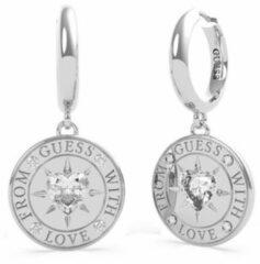 Zilveren Guess Jewellery FROM GUESS WITH LOVE UBE70026 Volwassenen Oorhangers 16mm